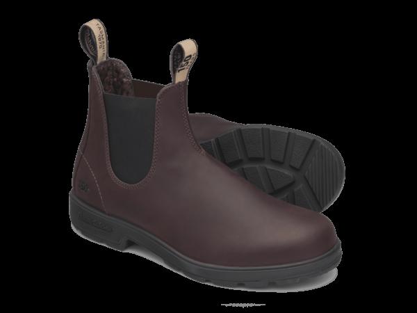 Blundstone-150-limited-edition-model-auburn-bordeauxrood-zijkant-zool